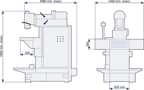 Схема фрезерного станка.