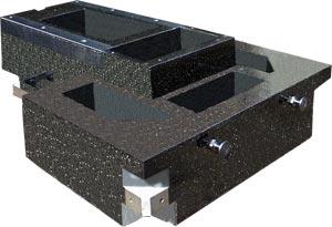 Фотография основания из синтетического гранита.